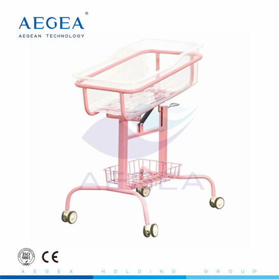 Safety ABS Basin Medical Infant Sleep Height Adjustment Hospital Baby Cart