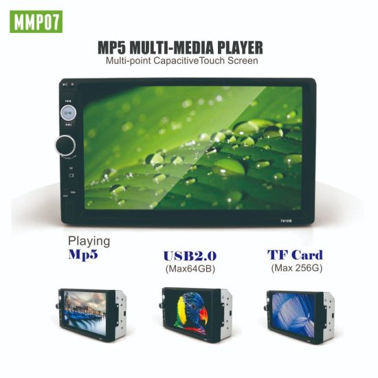 Car Dynamic Modern Player Sunplus System HD1080p Touch Screen 7 Inch Car  Radio MP5 with Mirror Link