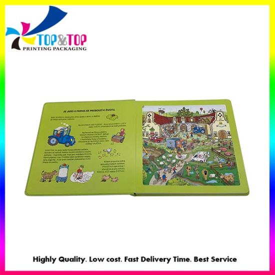 Direct Factory Price Children Board Book Printing for Learning Cognitive Puzzle Book Boardbook Printing
