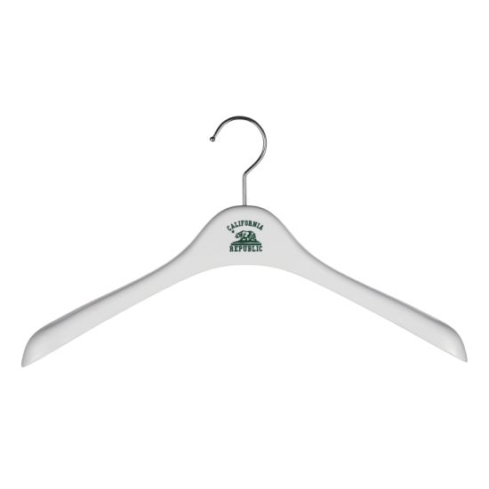 ABS Material Plastic Brand Logo White Clothing Hanger for Display pictures & photos