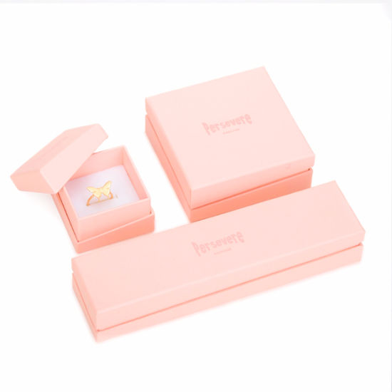 Wholesale Small Order Quantity Pink Display Jewelry Packaging Box pictures & photos