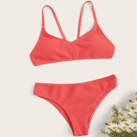 Fashion Mature Women Swimsuit Two Piece Bikini Swimwear pictures & photos