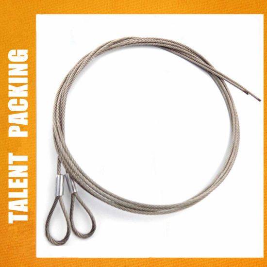Galvanized Steel Stainless Steel Wire Rope Sling with Eyes Hank