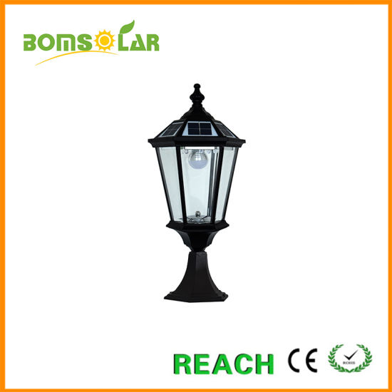 Popular Aluminium Solar Powered Post Lantern Price pictures & photos