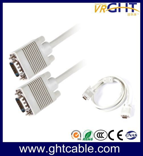 high quality male/male vga cable 3+4, 3+6 for monitor/projetor (d003)