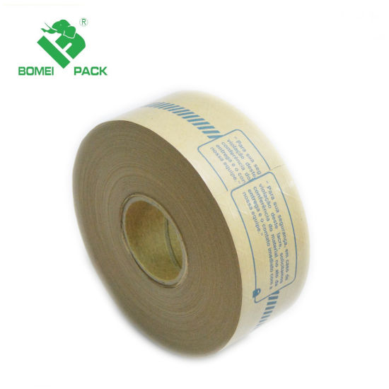 Custom Logo Printed Reinforced Kraft Paper Packaging Tape pictures & photos