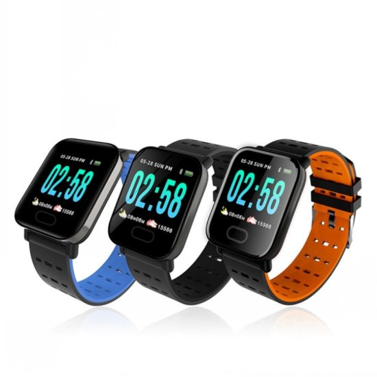 Fitness Sports Smart Watch A6 Inteligente Track Touch Screen Heart Rate Monitor Custom Fitness Tracker Smartwatch for Mobile Phone