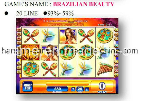 Brazilian Beauty-20 Line Gambling Casino Game Machine Arcade Game Machine