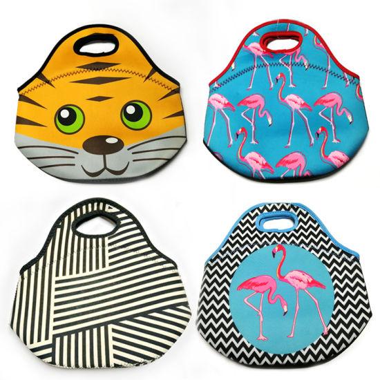 Thick Heat Preservation Neoprene Lunch Bag Kids Picnic Cooler Bag OEM Wholesale