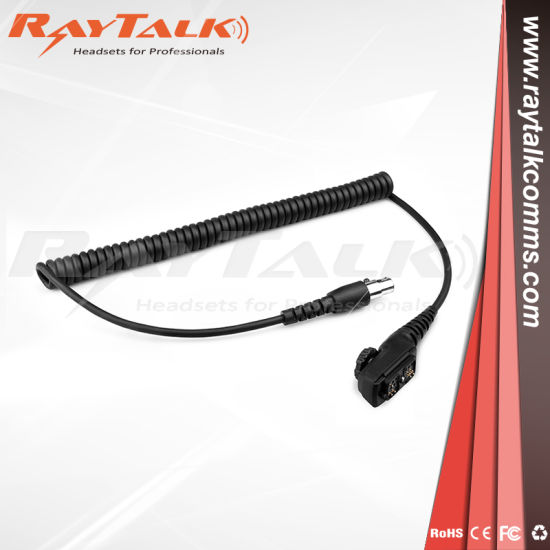 China Coiled Cord Cable for Racing Radio Headset for Hytera