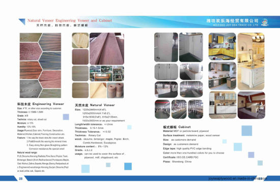 Veneer for Direcotion Muti-Purpose with High Quality for Building Material pictures & photos