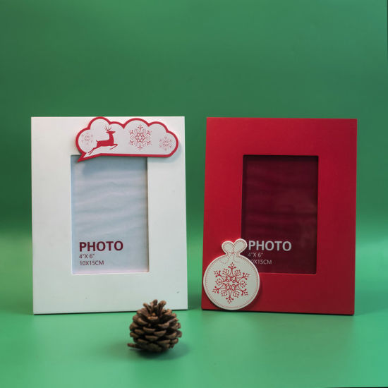 Eco-Friendly Promotional Gift Wooden Photo Frame Holiday Decoration pictures & photos