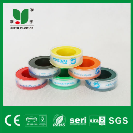 Teflon Tape PTFE Thread Seal Tape with Transparent Spool pictures & photos