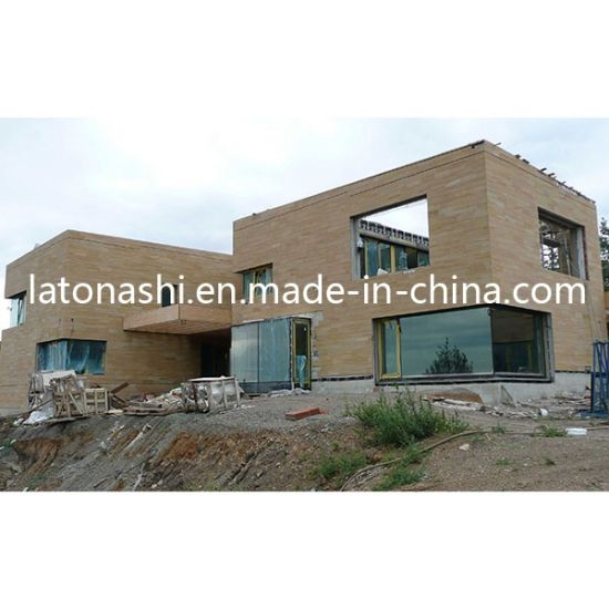 Natural Yellow Sandstone Exterior Wall Cladding Tiles For Construction Decoration