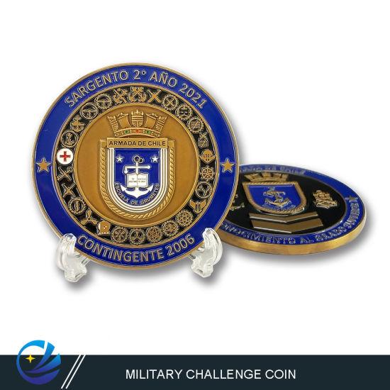 Custom Lapel Pin Medal Challenge Souvenir Coin in 3D Silver Souvenir