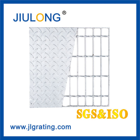 Hot DIP Galvanized Compound Bar Grating Steel Floor Grating with Checkered Plate