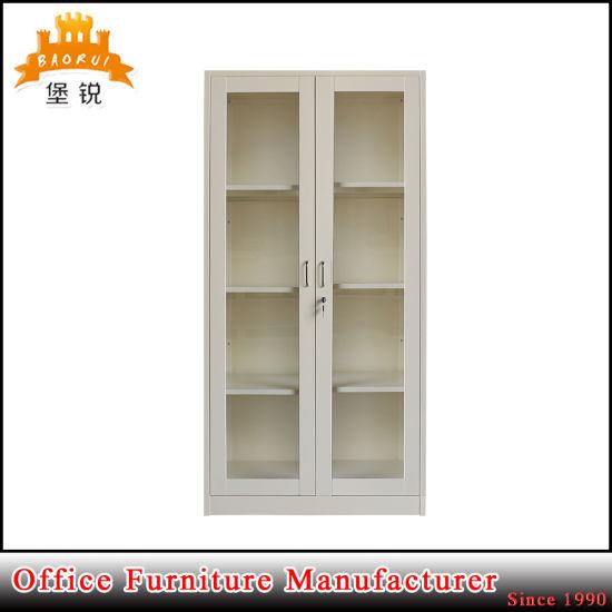 China Adjustable 4 Shelves Glass Door Book Display Cabinet China