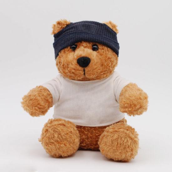15cm Plush Soft Bear with T-Shirt & Hat