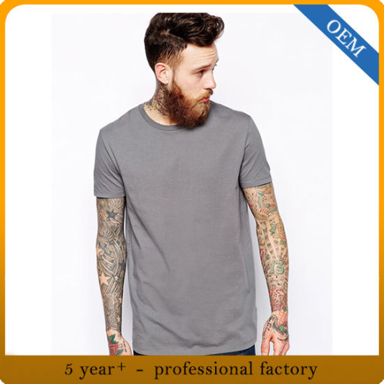 Design Summer Short Sleeve Grey T Shirt Mens pictures & photos