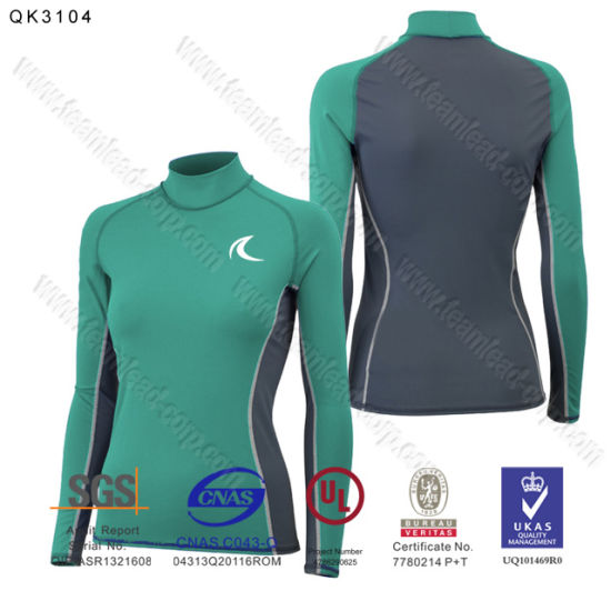 Long Sleeve Swimwear Upf 50+ Sun Protective Rashguard for Women pictures & photos