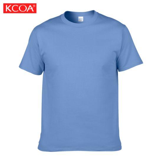 OEM Factory Carolina Blue Wholesale Custom Printed Cotton Men's T-Shirt