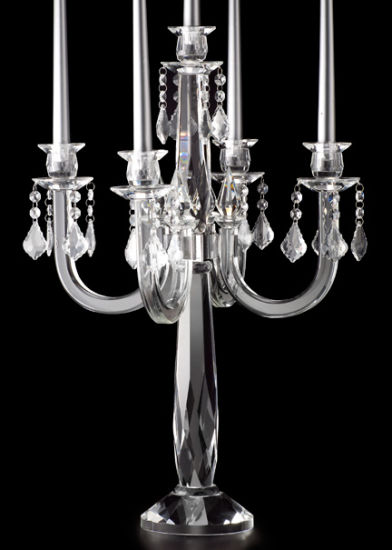 24 1/2in Chandelier Ornament Crystal Candelabra