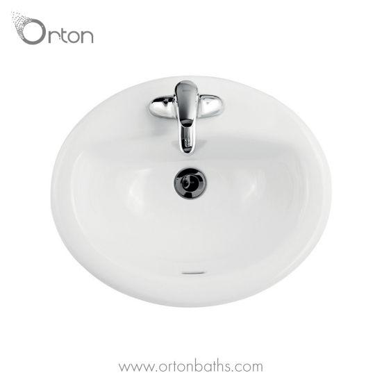 Oval Drop In Bathroom Sink China Wash Basins Sinks Made