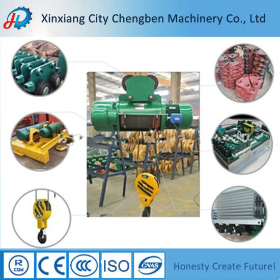 CD/MD Type Small Overhead Crane Electric Wire Rope Hoist 0.5ton pictures & photos