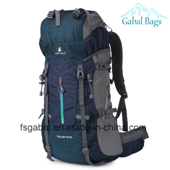 55L Outdoor Waterproof Hiking Laptop Computer Travel Sports Bag Backpack pictures & photos