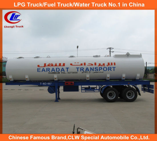 China 2 Axle 35000liters Stainless Steel Oil Transport Truck Trailer