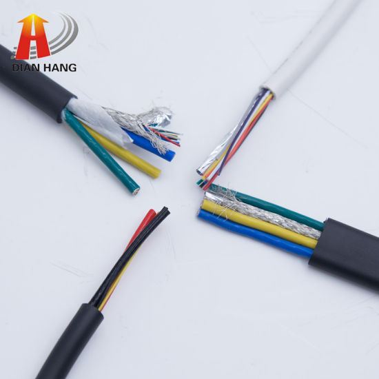PVC 25AWG Od7.0mm Wire Tinned Copper 4pair + Filling + Aluminum Foil + Braid Shielded Air Compressor Motor Cable PVC Control Power Wire Electrical Copper Wire