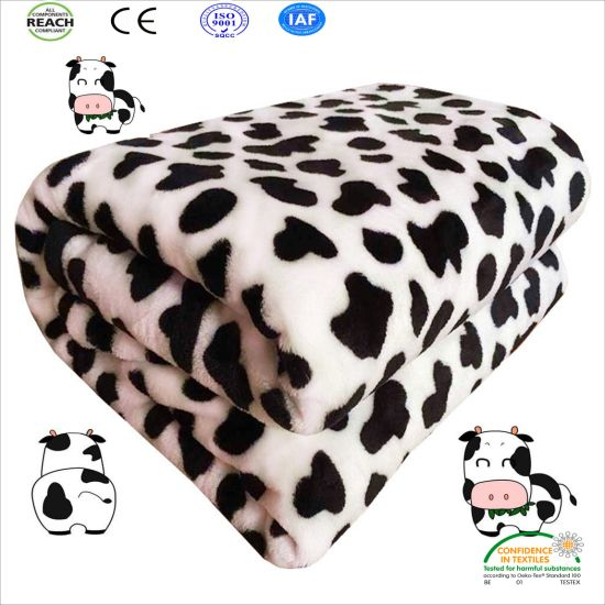 Cute Cow Pattern Super Soft Fleece Blanket pictures & photos