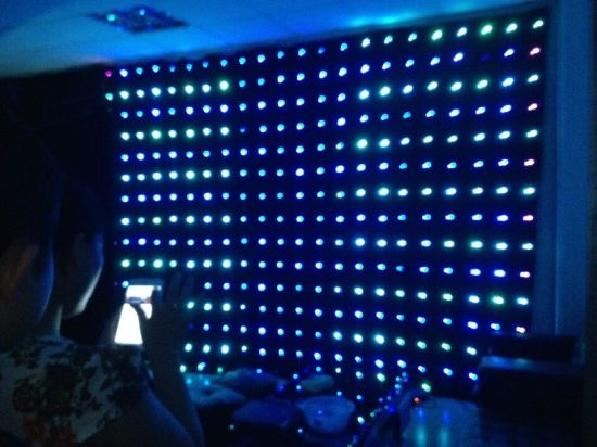 2*4m RGB LED Video Curtain with Video Effect pictures & photos