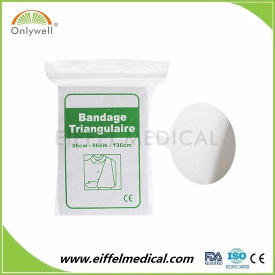 Free Sample Non-Woven Cotton Emergency Triangular Bandage