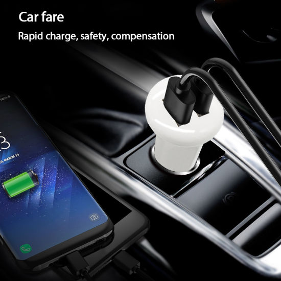 Mini 5V 3.1A USB Dual Car Charger for Mobile Phone pictures & photos