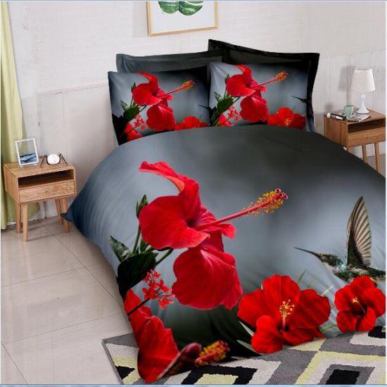 Latest Design 3D Animal Print Bedding Sets/Duvet Cover/Bed Sheet Set/Bed  Linen