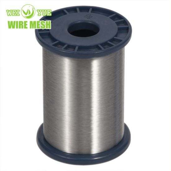 Ultra Thin 316L 0.035 mm Bright Annealed Stainless Steel Weaving Sewing Thread Used for Cut Resistant Gloves
