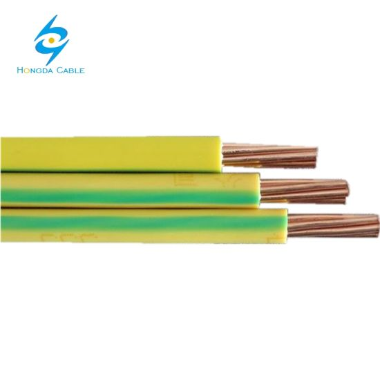 150mm Flexible Copper PVC Covered Earth Grounding Wire Cable Green/Yellow