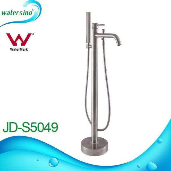 Jd-S5051 Contemporary Sqaure Shape SS304 Floor Standing Bathtub Faucet pictures & photos