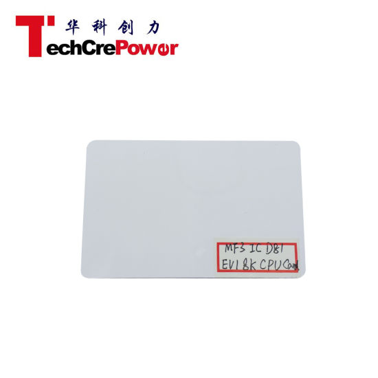 Mf3 IC D81 EV1 8K Chip Blank White PVC RFID 13.56MHz Card pictures & photos