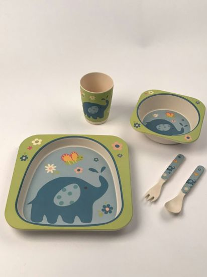 Hot Selling Kids Dining Plate Set Dinner Plate Set 5 Pieces For Baby