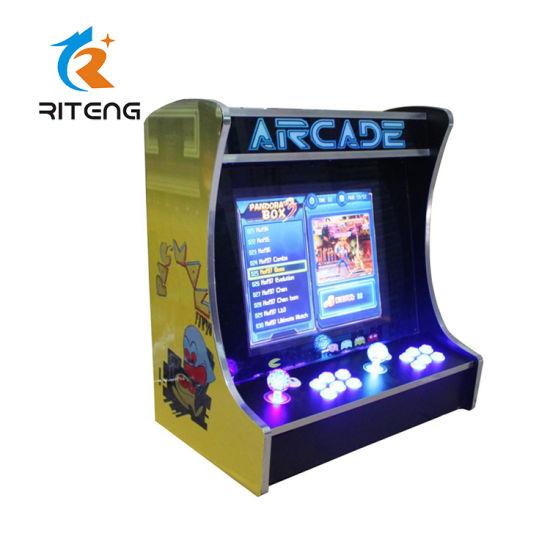 19 Inch Lcd Horizontal Screen Bartop Arcade Cabinet Arcade Game Machine For Sale