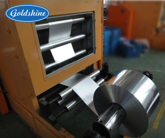 Embossing Aluminium Foil Roll Rewinding Machine pictures & photos