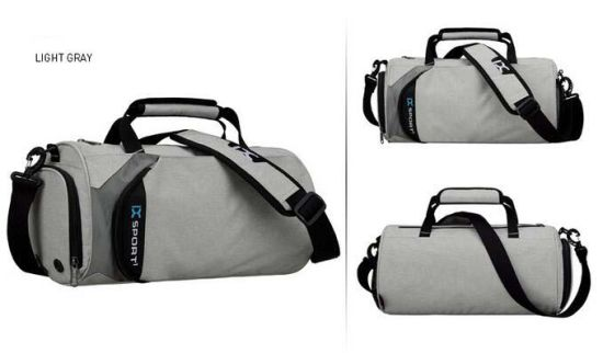 5fd3e80aad80d6 High Quality Polyester Sport Duffel Bag Gym with Shoe Compartment pictures  & photos