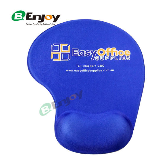 Ergonomic Gel Wrist Rest Mouse Pad with Custom Logo Printed