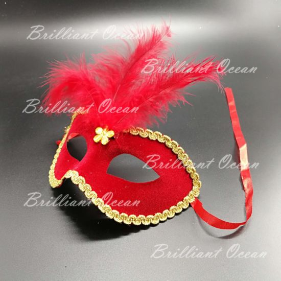 red masquerade mask for costume gala new year eve ball masquerade mask