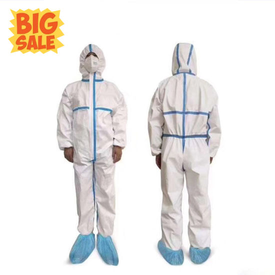 China 65gsm Protective Cloth Chemical Protection Hazmat Suit Factory Price China Safety Suit Protective Coverall Protection Clothing
