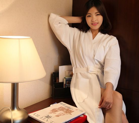 Promotional Hotel / Home Cotton Waffle Bathrobes / Pajama / Nightwear / Sleepwear