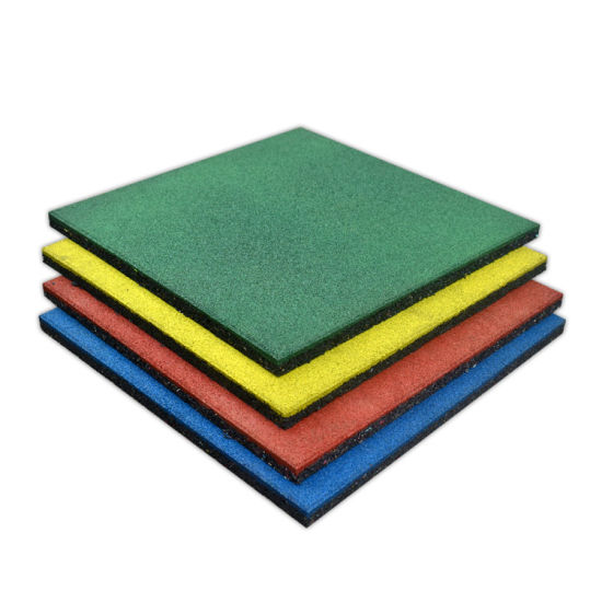 Wholesale Outdoor Anti-Slip Safety Rubber Floor Tile Rubber Mat for School
