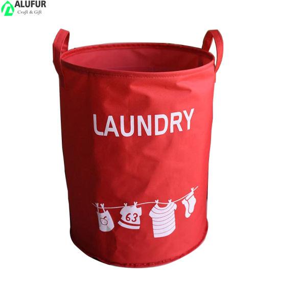 Large Storage Bin Collapsible Fabric Laundry Hamper Waterproof Basket for Kids Room